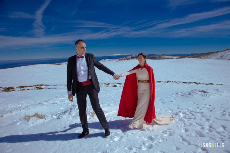 Lupe y Joaqui post boda en la nieve